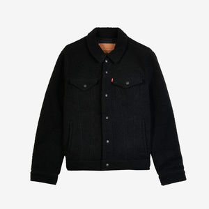 NWT Men's Black Large Levi's Sherpa Trucker Jacket